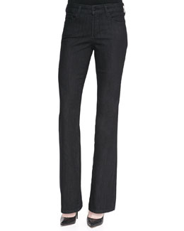 NYDJ Barbara Dark Enzyme Boot-Cut Jeans, Petite