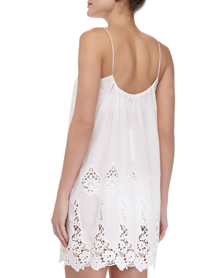 Anna Embroidered-Voile Coverup