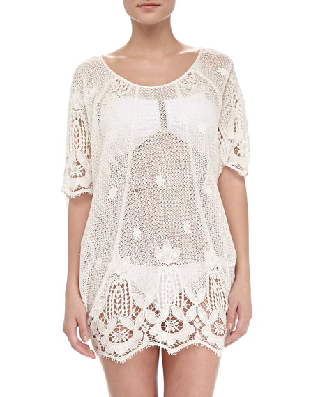 Miguelina Jessica Sheer Scalloped Coverup
