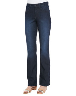NYDJ Barbara Boot-Cut Burbank Leaves Jeans, Petite