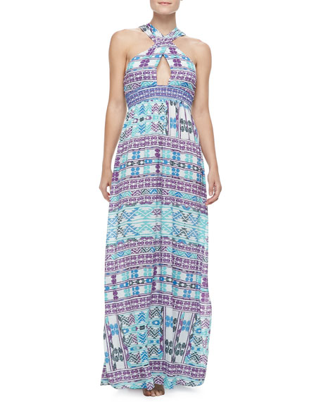 Drummer's Embroidered Maxi Dress Coverup