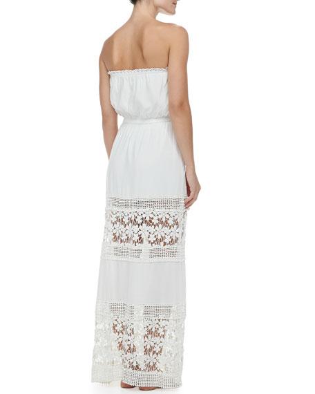 Charlotte's Crochet-Panel Maxi Dress Coverup