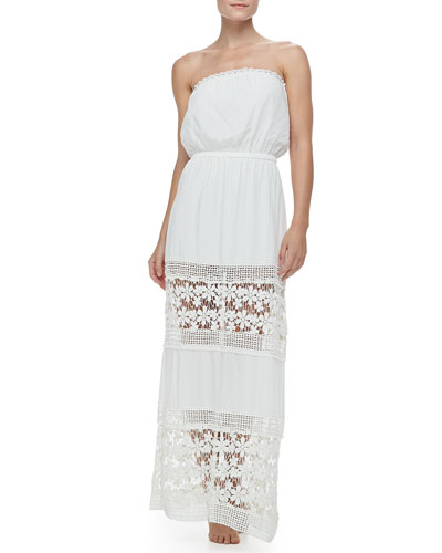 6 Shore Road Charlotte's Crochet-Panel Maxi Dress Coverup
