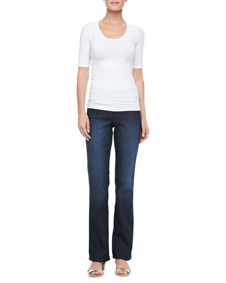 Barbara Boot-Cut Burbank Leaves Jeans, Women's