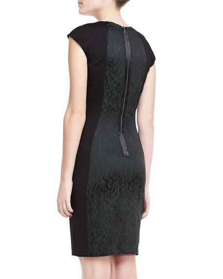 Aiden Animal-Print Jacquard Dress