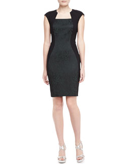 Elie Tahari Aiden Animal-Print Jacquard Dress