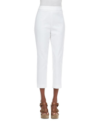 Slim-Leg Pants, White