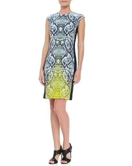 Snake-Print Silk Dress