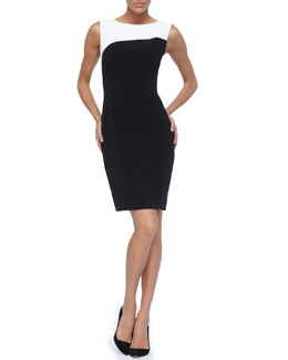 Elie Tahari Audrina Two-Tone Design Dress