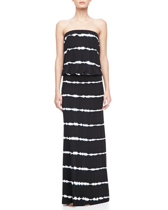 Sydney Striped Maxi Dress, Black