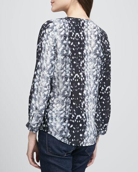 Purine Leopard-Print Blouse