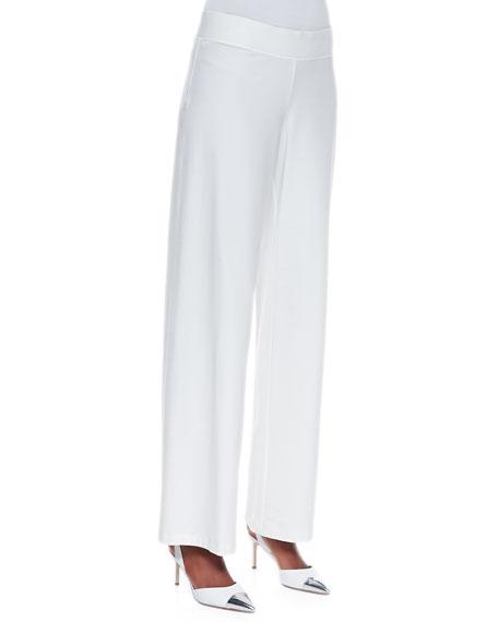 Modern Wide-Leg Pants, White
