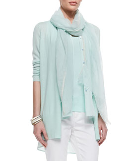 Eileen Fisher Ethereal Sparkle Cashmere Wrap, Light Mint