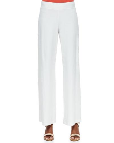 Eileen Fisher Modern Crepe Wide-Leg Pants, Women's