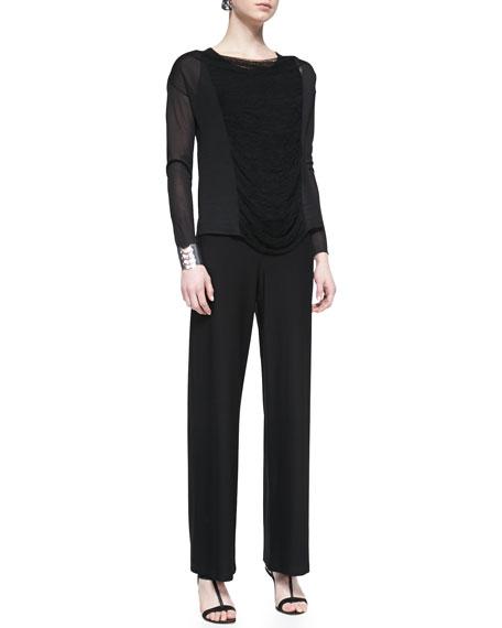 Modern Wide-Leg Pants, Black