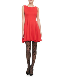 Alice + Olivia Betsy Fit & Flare Dress
