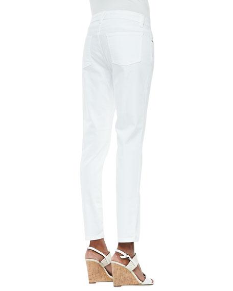 Organic Denim Skinny Ankle Jeans, White