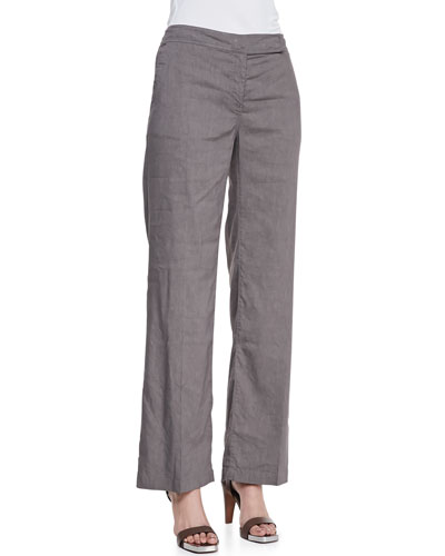 Eileen Fisher Straight-Leg Trousers, Petite