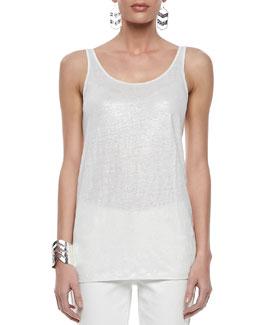 Eileen Fisher Organic Linen Jersey Shimmer Tank