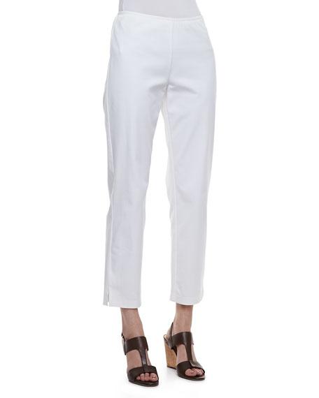 Organic Stretch Twill Slim Ankle Pants, Petite