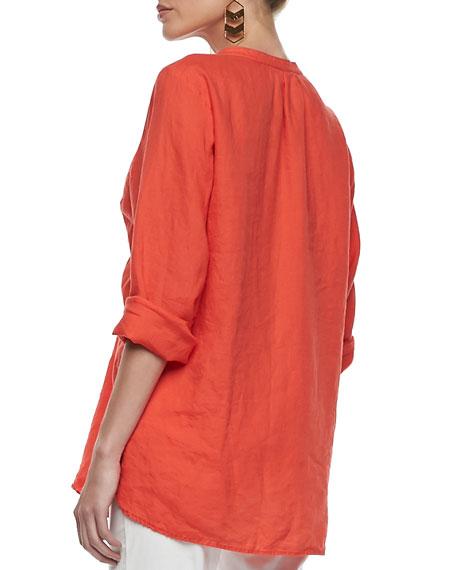 Organic Linen Long-Sleeve Tunic, Women's