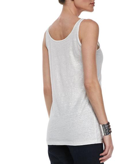 Organic Linen Jersey Shimmer Tank, Women's