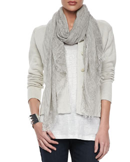Eileen Fisher Tinted Sparkle Scarf, Dark Pearl