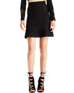 Herve Leger Perforated Bandage Skirt