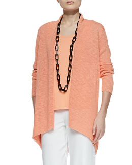 Eileen Fisher Melange Linen-Blend Cardigan