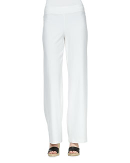 Eileen Fisher Modern Crepe Wide-Leg Pants, Women's