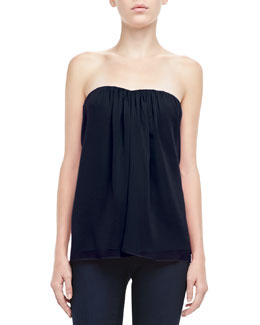 Alice + Olivia Kenley Strapless Silk Top