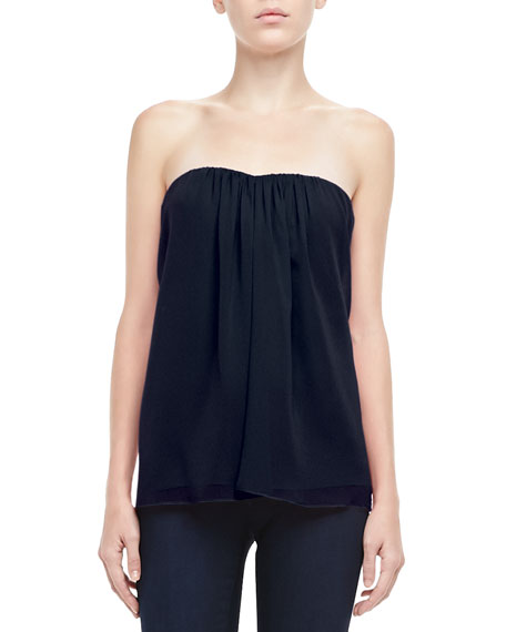 Kenley Strapless Silk Top