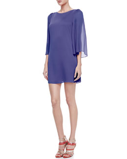 Alice + Olivia Odette Keyhole Dress, Blue