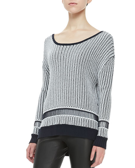 Dane Two-Tone Knit Sweater