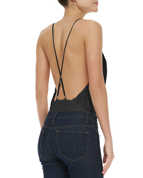 Ballerina Low-Cut Bodysuit, Black
