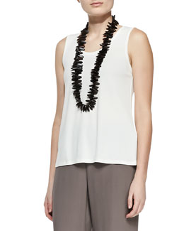 Eileen Fisher Stretch Silk Jersey Tank, Women's
