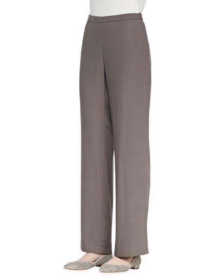 Silk Georgette Crepe Pants, Petite