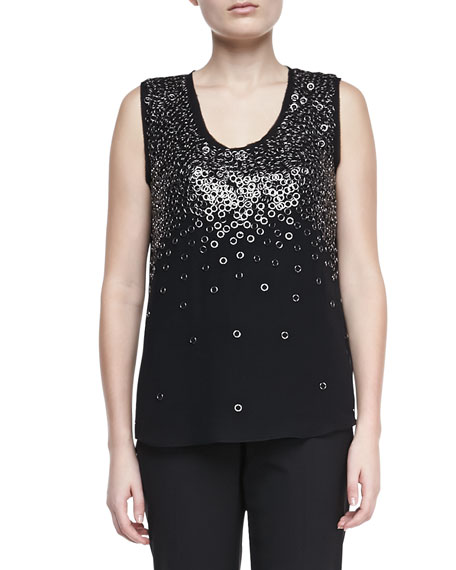 Angelica Embellished Knit Tank