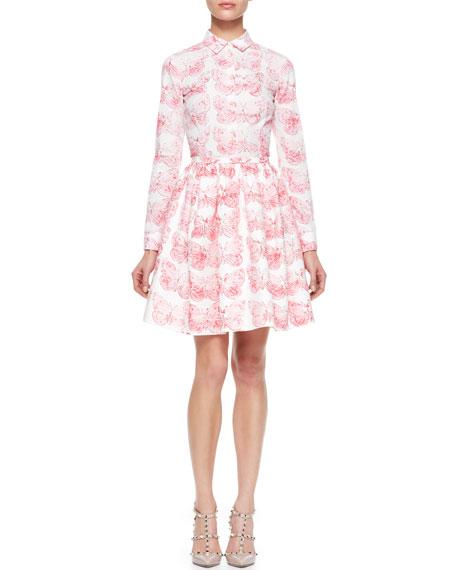 Butterfly Poplin Skirt, Hydrangea