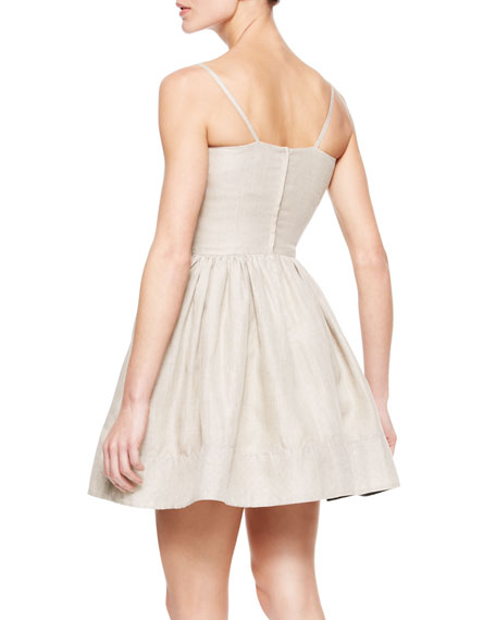 Spaghetti Strap Dress with Bow Detail