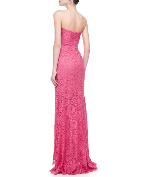 Chantilly Lace Strapless Gown