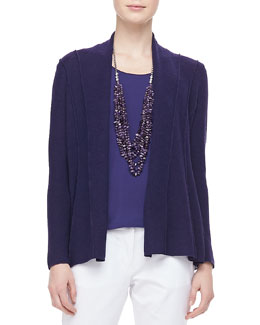 Eileen Fisher Washable Polished Wool Cardigan