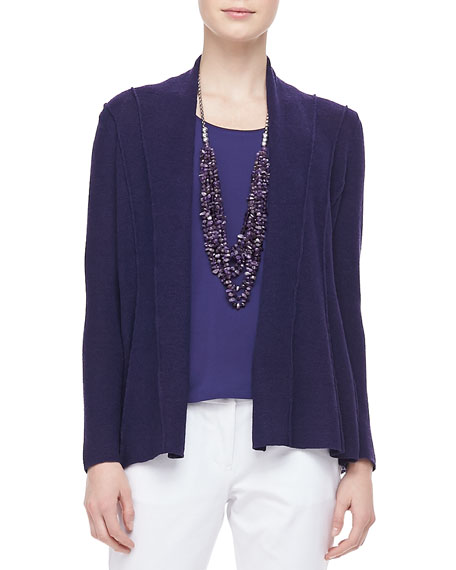 Washable Polished Wool Cardigan