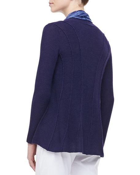 Washable Polished Wool Cardigan, Petite
