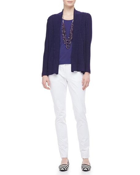 Organic Cotton Skinny Jeans, White