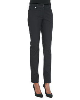 Eileen Fisher Organic Cotton Skinny Jeans, Black