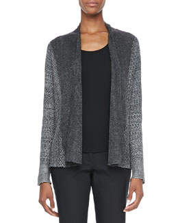 Eileen Fisher Plied Up Linen Cardigan, Petite