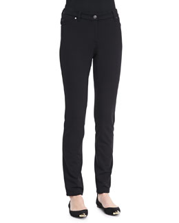 Eileen Fisher French Terry Skinny Pants, Petite