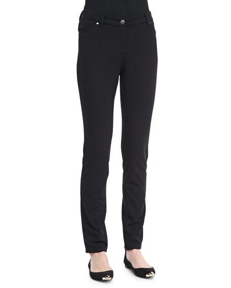 French Terry Skinny Pants, Petite