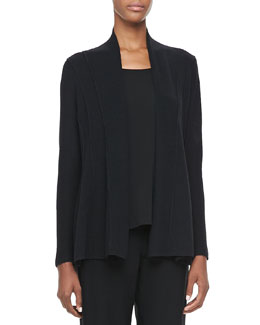 Eileen Fisher Washable Polished Wool Cardigan, Petite
